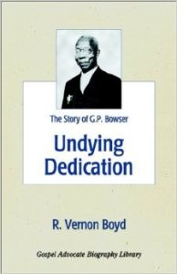 The cover of Boyd's biography of Bowser's life.