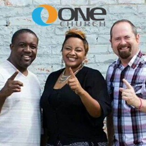 The staff of One Church in Jackson, MS, from left to right:  Associate Pastor Donavon Thigpen, Director of Development Maranda Joiner, and Lead Pastor Matt McGue