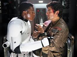 Boyega and Isaacs as Finn and Poe